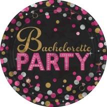"Bachelorette Night Round Metallic Plates 8 7"" Dessert Shower Bridal - $3.99"