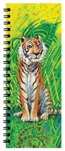 Beautiful Tiger ListBook 4.25 x 11 inches Side-Bound Notebook - Cover Art by Nat