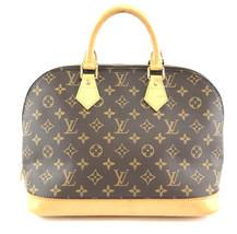 #32434 Louis Vuitton Alma Handbag Hand Tote Everyday Monogram Canvas Sat... - $650.00