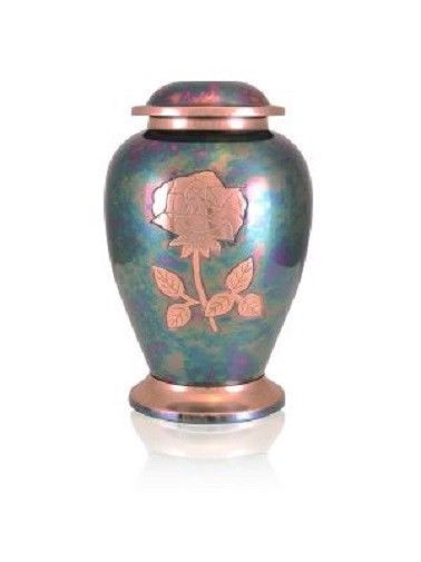 Extra-Large 640 Cubic Inch Gleaming Rose Companion Funeral Cremation Urn
