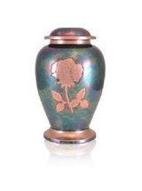 Extra-Large 640 Cubic Inch Gleaming Rose Companion Funeral Cremation Urn - $279.99