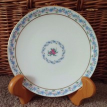 Lot of 2 Lenox China The Fairmount 7 inch Dessert Bread Plate Plates Blue floral - $26.17