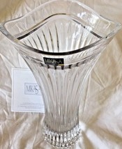 "Mikasa Lead Crystal Vase/10"" height/Germany - $27.95"