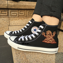 Converse Original Black Canvas Shoes Design Mud Ghost Monster All Star S... - $119.00