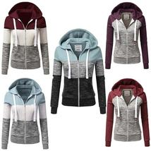 2017 New Women Fashion Plus Size Thin Zip up Hoodie Jacket Drawstring Letter Pri