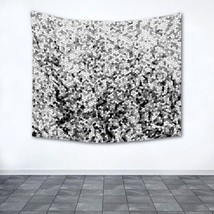 Wall Tapestry Wall Hanging Printed in USA Design 100 mosaic black white ... - $1.010,55 MXN+