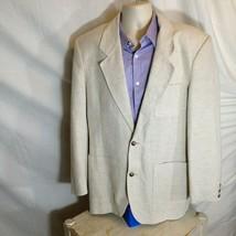 Eddie Bauer Mens Linen Blazer Cream Size 42 - $14.84