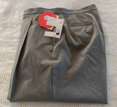 NWT Liz Claiborne Kylie Gray Pleated Front Dress pants Size 14 Lizsport - $35.64