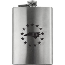 Original North Carolina State III Percenter Stainless Steel 8oz. Flask - $19.99