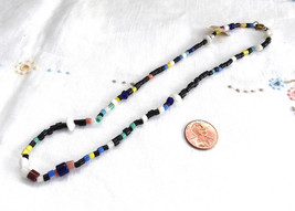Necklace Czech Bohemian Glass Beads 1930s Jewelry Suppy 17 Inches Neckla... - $18.00