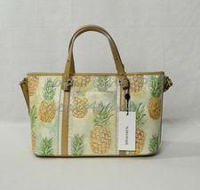 NWT Brahmin Mini Asher Leather Satchel/Shoulder Bag in Multi Pompano image 5