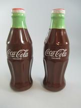 Coca-Cola Coke Contour Bottle Salt and Pepper Set Ceramic  - $7.92