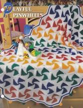 Playful Pinwheels, Annie's Crochet Quilt & Afghan Pattern Club Leaflet Q... - $2.95