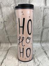 Starbucks Ho Ho Ho Travel Mug Tumbler Peach 16 Oz New Gift Collectible - $16.83