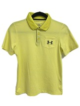 Under Armour heat gear youth boys polo shirt short sleeve yellow size YMD - $13.75