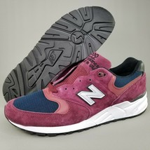 New Balance 999 Made in USA Suede Running Shoes Mens Size 11.5 D Burgundy White - $93.49