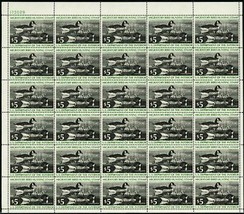 RW43, Mint VF Sheet of 30 $5 Duck Stamps CV $370.00 - Stuart Katz - $195.00