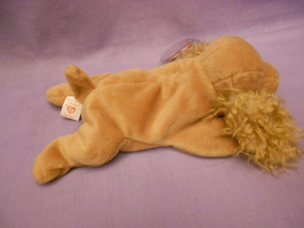 TY Beanie Babies Spunky Cocker Spaniel Tan Dog With Hang Tag Jan. 14, 1997 image 4