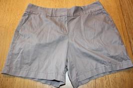 W9560 Womens ANN TAYLOR LOFT Light Brown Cotton CASUAL SHORTS Chino Khaki 6 - $14.50