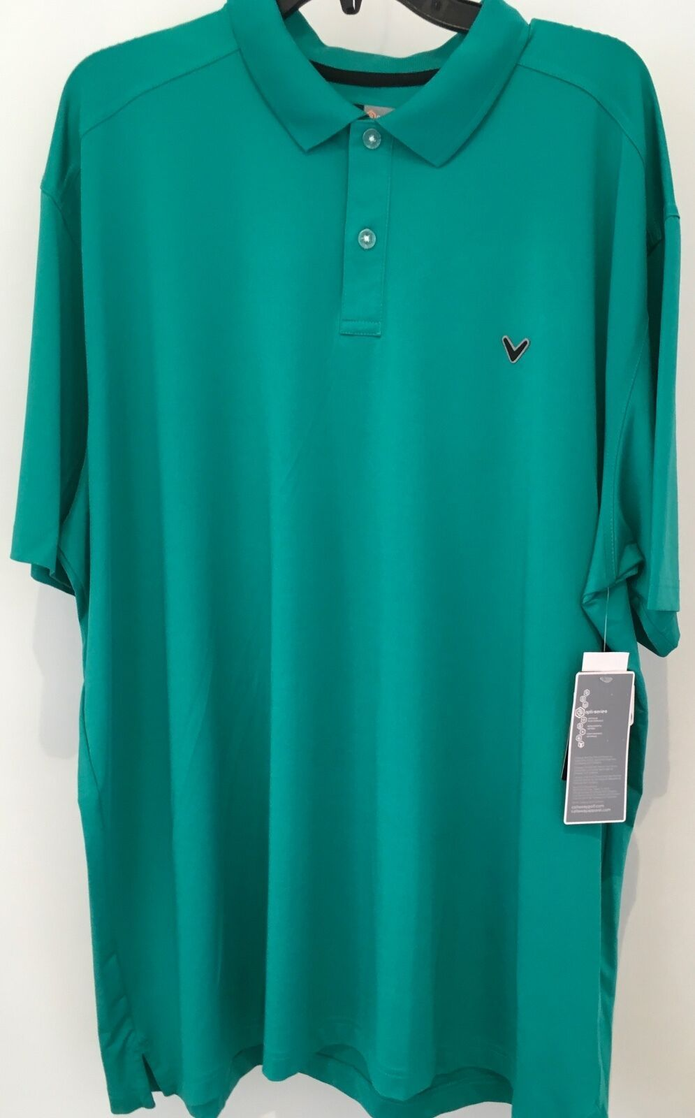 Primary image for  Callaway Opti-Dri Performance Mens Golf Polo Shirt Green XXL NWT