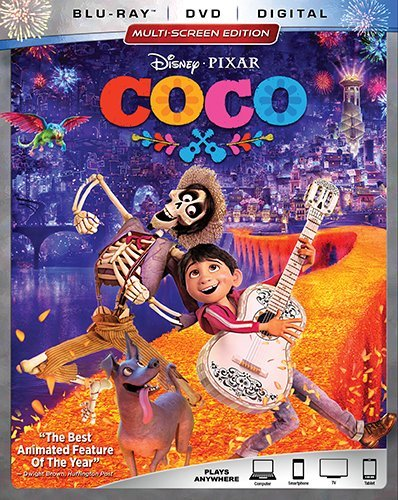 Disney Pixar COCO [Blu-ray+DVD+Digital, 2018]