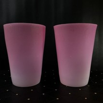 """Pair Of Antique New England Peachblow Conical Large 8"""" X 6"""" Vases - $1,140.00"""