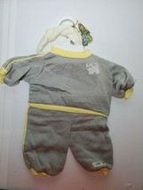 Original Cabbage Patch 2 pc Jogging Outfit- CAT- Coleco Industries Grey Yellow - $24.65