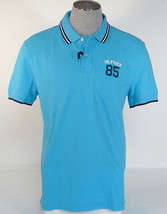 Tommy Hilfiger Classic Fit Blue Cotton Short Sleeve Polo Shirt Mens NWT - $59.99