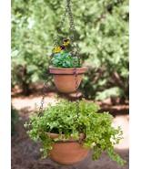 Two Tier Hanging Terra Cotta Pots, Planter, Handmade - $39.99
