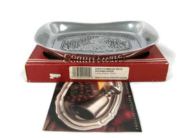 Wilton Armetale Pewter Polished Tray Country Ware Give Us Bread  - $22.27