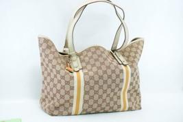 Gucci Sherry Linea Gg Borsa Tote in Tela Marrone Auth ar1156 - $192.60