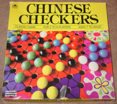 CHINESE CHECKERS MARBLES GAME GOLDEN 1989 COMPLETE - $12.00