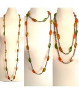 "RARE 30s-40s Genuine Bakelite Art Deco 60"" Long Marbled Longer Beads Fla... - $155.00"