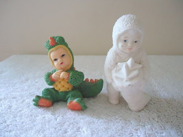 """Mixed Lot Of 2 Figurines,1,Snow Babies,1,Other """" Great Collectible Lot """" - $14.01"""