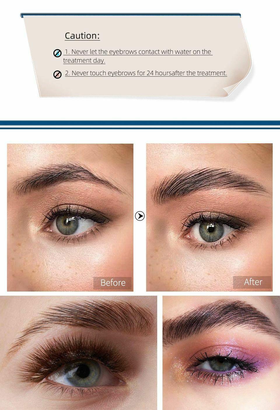 Brow Eyebrow Lamination Kit Safe Perming Brow Lift Set ...