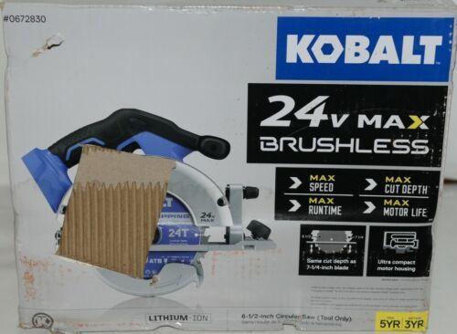 KOBALT 0672830 Circular Saw 24V Max Brushless TOOL ONLY