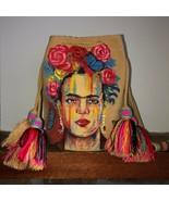 Authentic 100% Wayuu Mochila Colombian Bag special handpainted Frida Kah... - £79.28 GBP