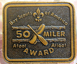 Boy Scouts of America 50 Miler Leather Award patch - $11.48