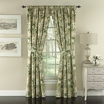 Waverly Garden Glory-Rod Pocket Curtains for Living Room, Double Panel, ... - $101.99