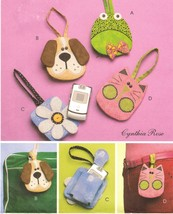 Girls Childs Frog Puppy Flower Kitten Cell Phone Iphone Case Bag Sew Pat... - $12.99