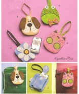 Girls Childs Frog Puppy Flower Kitten Cell Phone Iphone Case Bag Sew Pattern - $12.99