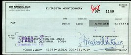 Elizabeth Montgomery signed business size check. Bewitched. - $88.00