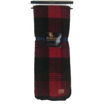 Pendleton Home Red Black Buffalo Plaid Throw Blanket 50 X 70 NEW - $47.22
