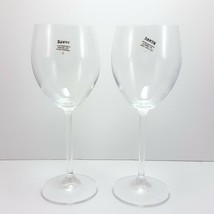 Dansk All Purpose Wine Glasses Set of 2 Clear Crystal 12 oz Plain Stem Water - $34.65