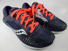 Saucony Kineta Relay Size 7 M (B) EU 38 Women's Running Shoes Navy Dots S15244-3 - $54.68