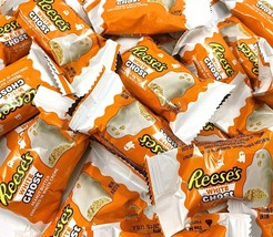 Halloween REESE'S Ghost White Creme Peanut Butter Candy BULK - $18.42+