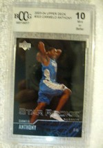 Carmelo Anthony RC 2003-04 Upper Deck Rookie Card#303 Graded BccG10! Nug... - $98.99