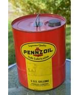 Vintage Pennzoil 5 Gallon Pennsylvania Motor Oil Can - Oil City, PA  ''N... - $112.16