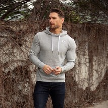 Mens Basic Training Workout Hoodies Gym Athletic Fit Pullover Sweatshirt Jumper - $44.88