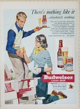 Vintage Magazine Ad 1950 BUDWEISER LAGER BEER - The Ken Murray Show - $2.82